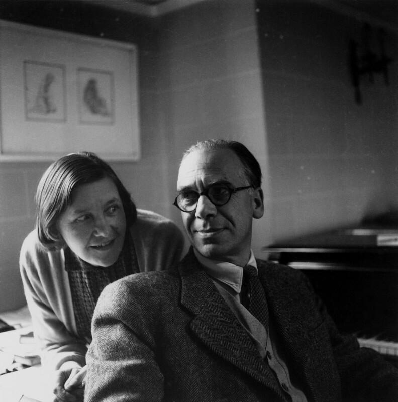 Olive Alwyn (née Pull); William Alwyn, by Lida Moser, 1953 - NPG x76711 - © National Portrait Gallery, London
