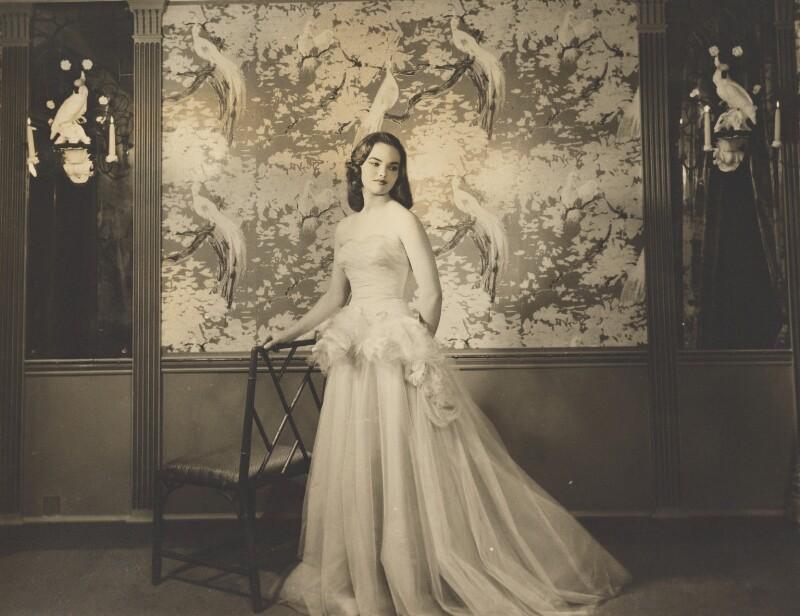 Henrietta Joan (née Tiarks), Duchess of Bedford, by Dorothy Wilding, 1957 - NPG x34868 - © William Hustler and Georgina Hustler / National Portrait Gallery, London