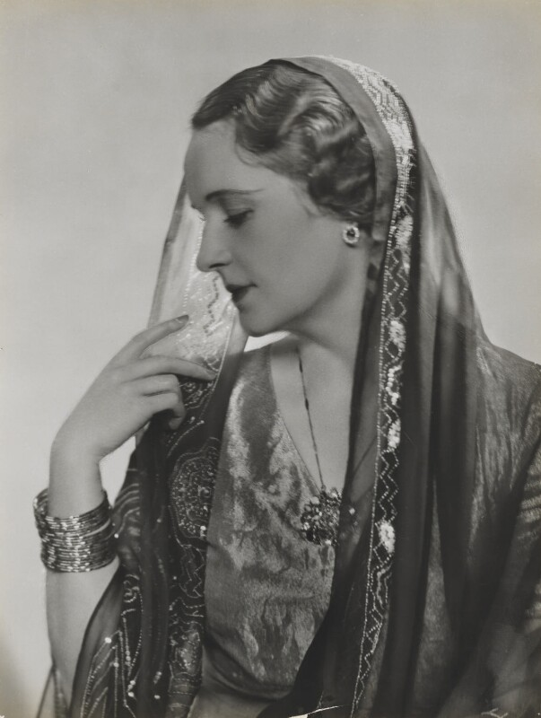 Princess Andrée Aga Khan (née Andrée Joséphine Carron), by Dorothy Wilding, 1934 - NPG x4355 - © William Hustler and Georgina Hustler / National Portrait Gallery, London
