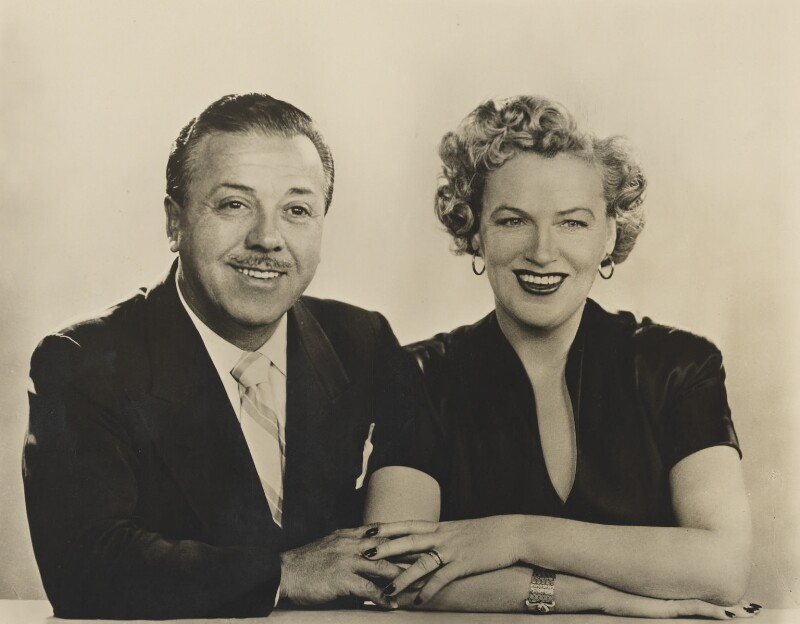 Monty Banks; Dame Gracie Fields, by Dorothy Wilding, 8 January 1950 - NPG x27491 - © William Hustler and Georgina Hustler / National Portrait Gallery, London