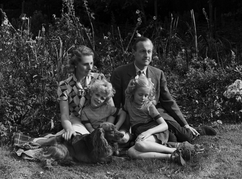 6th Earl of Gosford and family, by Bassano Ltd, 23 September 1946 - NPG x78081 - © National Portrait Gallery, London