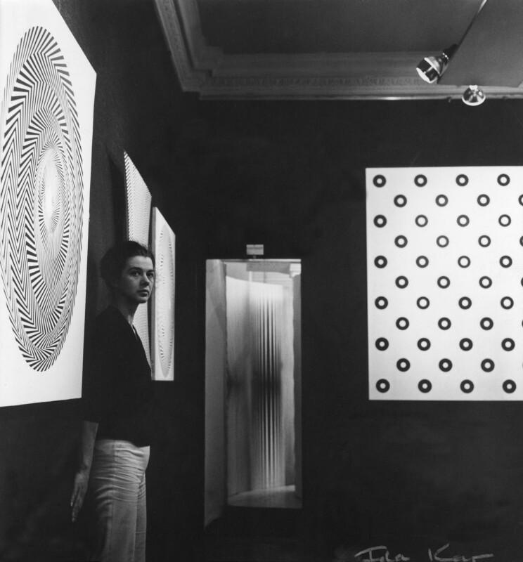 Bridget Riley, by Ida Kar, 1963 - NPG x13795 - © National Portrait Gallery, London