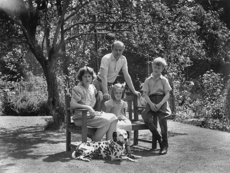 Candida Lycett Green; Paul Betjeman; Sir John Betjeman; Penelope (née Chetwode), Lady Betjeman, by Bassano Ltd, 30 July 1948 - NPG x78424 - © National Portrait Gallery, London