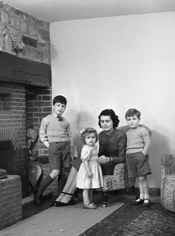 The Tregarne family, by Bassano Ltd, 17 December 1948 - NPG x78515 - © National Portrait Gallery, London