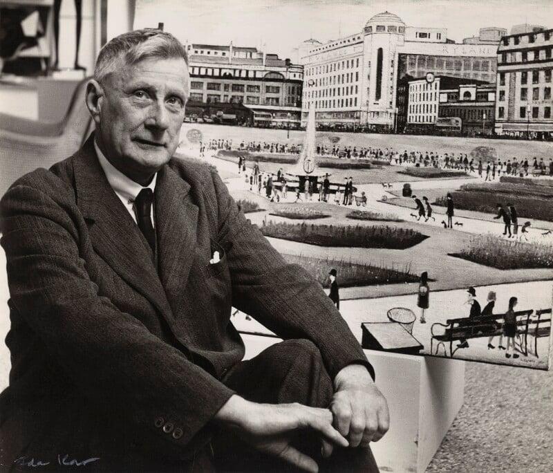 L.S. Lowry, by Ida Kar, 1954 - NPG x31629 - © National Portrait Gallery, London