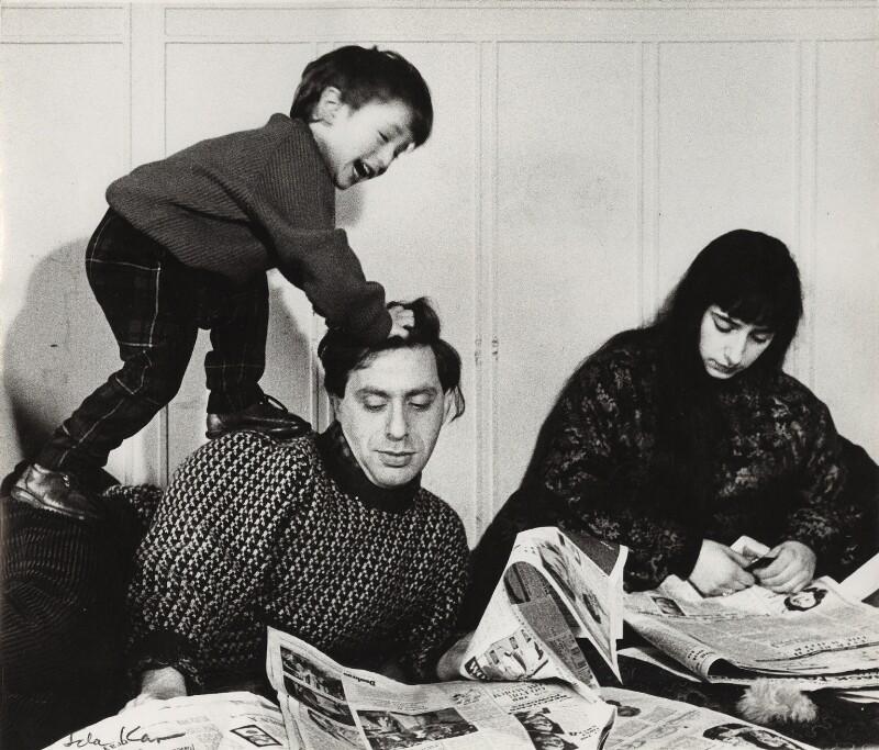 Bernard Kops; Erica Kops (née Gordon) and their son Adam Kops, by Ida Kar, 1960 - NPG x31636 - © National Portrait Gallery, London