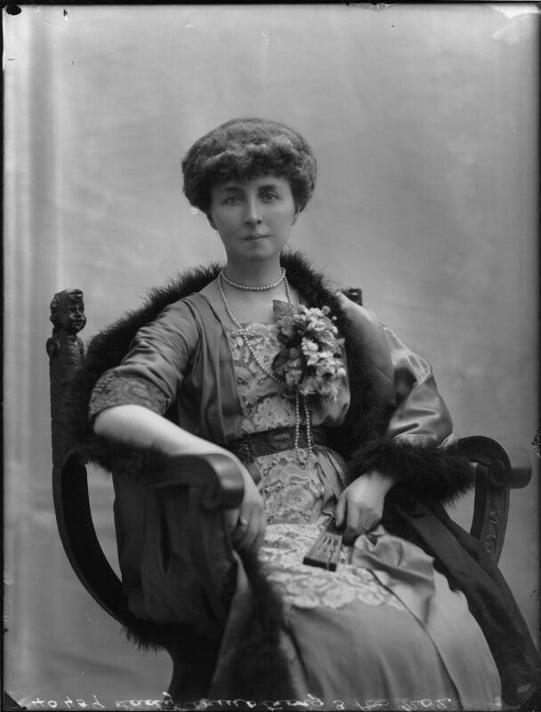 Winifreda Jane Watson-Armstrong (née Adye), Baroness Armstrong, by Bassano Ltd, 22 February 1911 - NPG x79814 - © National Portrait Gallery, London