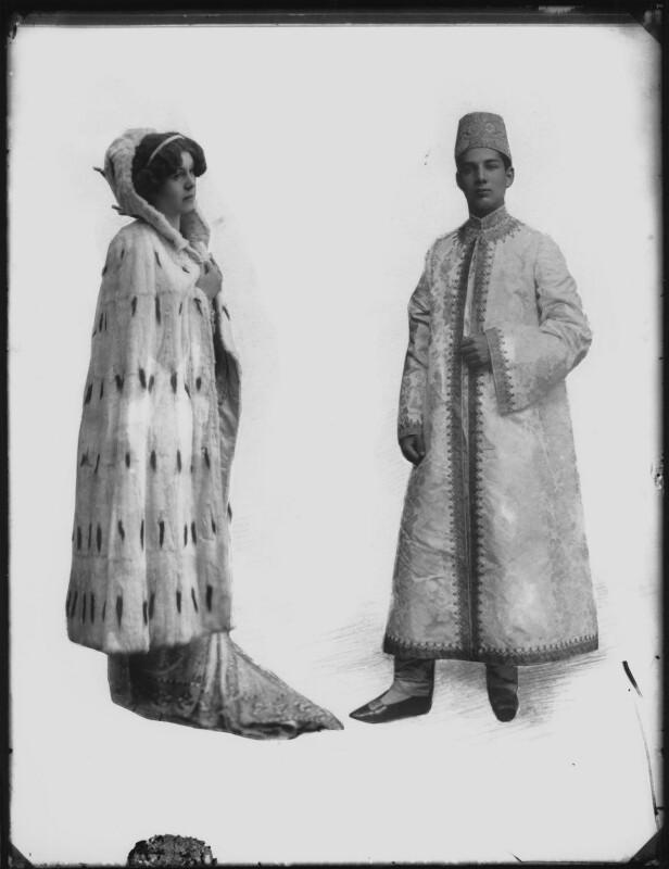 Dolly Parnell (Princess Nazir Ali Khan); Prince Ali Khan, by Bassano Ltd, 20 April 1911 - NPG x79842 - © National Portrait Gallery, London