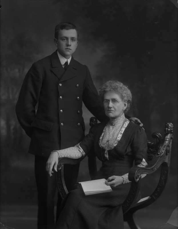 Mary Morley (née Ayling), Lady Morley of Blackburn; Frank Ayling, by Bassano Ltd, November 1911 - NPG x79846 - © National Portrait Gallery, London
