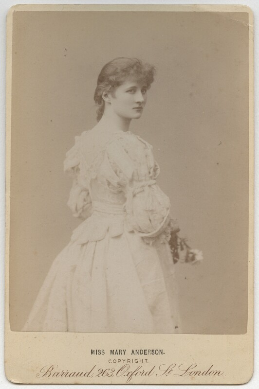 Mary Anderson (Mrs de Navarro), by Herbert Rose Barraud, 1880s - NPG x80 - © National Portrait Gallery, London