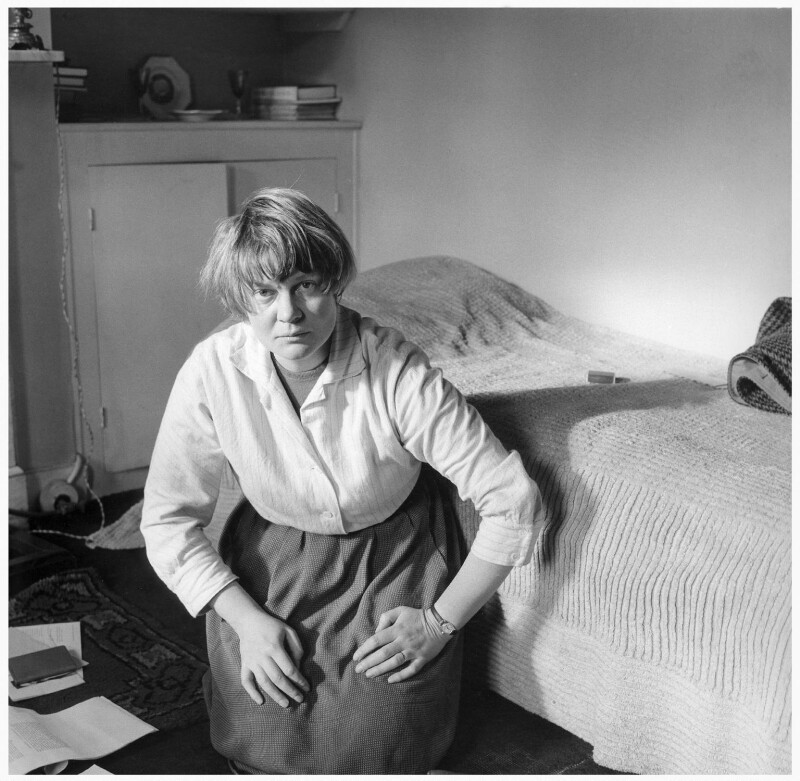 Iris Murdoch, by Ida Kar, 1957 - NPG x31659 - © National Portrait Gallery, London