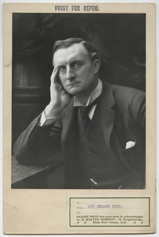 Edward Grey, 1st Viscount Grey of Fallodon, by Henry Walter ('H. Walter') Barnett, 1900-1903 - NPG x8019 - © National Portrait Gallery, London