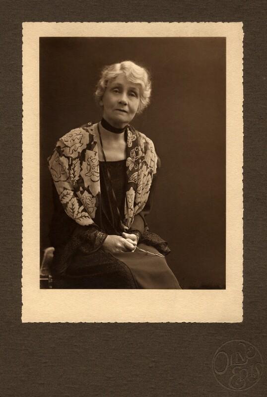 Emmeline Pankhurst, by (Mary) Olive Edis (Mrs Galsworthy), 1920s - NPG x6195 - © National Portrait Gallery, London
