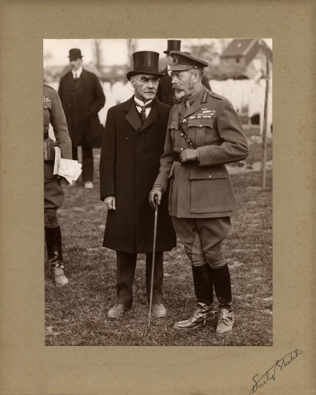 Rudyard Kipling; King George V, by Daily Sketch, 11 May 1922 - NPG x36220 - © National Portrait Gallery, London