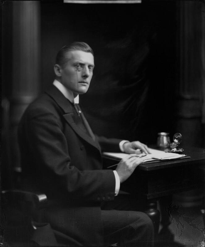 Sir (Joseph) Austen Chamberlain, by H. Walter Barnett, circa 1908 - NPG x81541 - © National Portrait Gallery, London