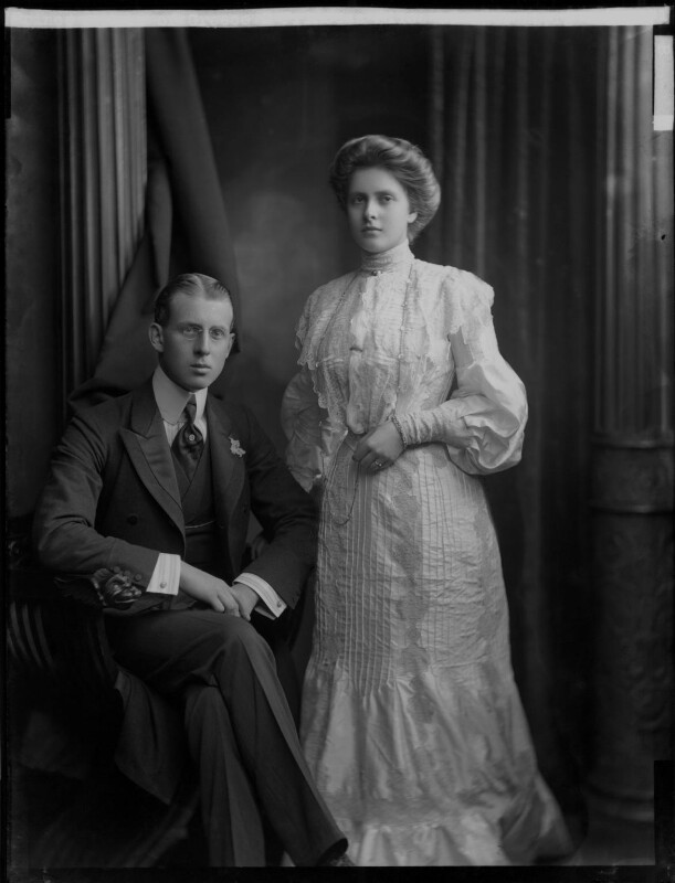 Princess Alice of Greece and Denmark; Prince Andrew of Greece, by H. Walter Barnett, 1903 - NPG x81591 - © National Portrait Gallery, London