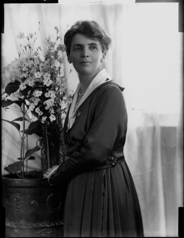 Adelaide Mabel Allenby (née Chapman), Viscountess Allenby of Megiddo, by Henry Walter ('H. Walter') Barnett, 1900-1920 - NPG x81628 - © National Portrait Gallery, London