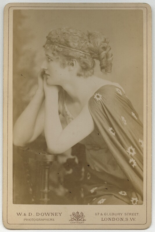 Mary Anderson (Mrs de Navarro) as Parthenia in 'Ingomar', by W. & D. Downey, 1883 - NPG x82 - © National Portrait Gallery, London