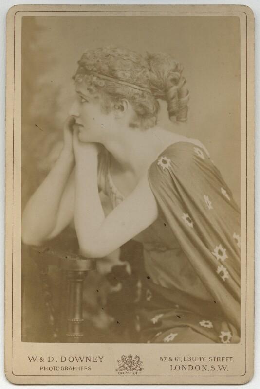 Mary Anderson (Mrs de Navarro) as Parthenia in 'Ingomar', by W. & D. Downey, 1883 - NPG x82 - © National Portrait Gallery, London