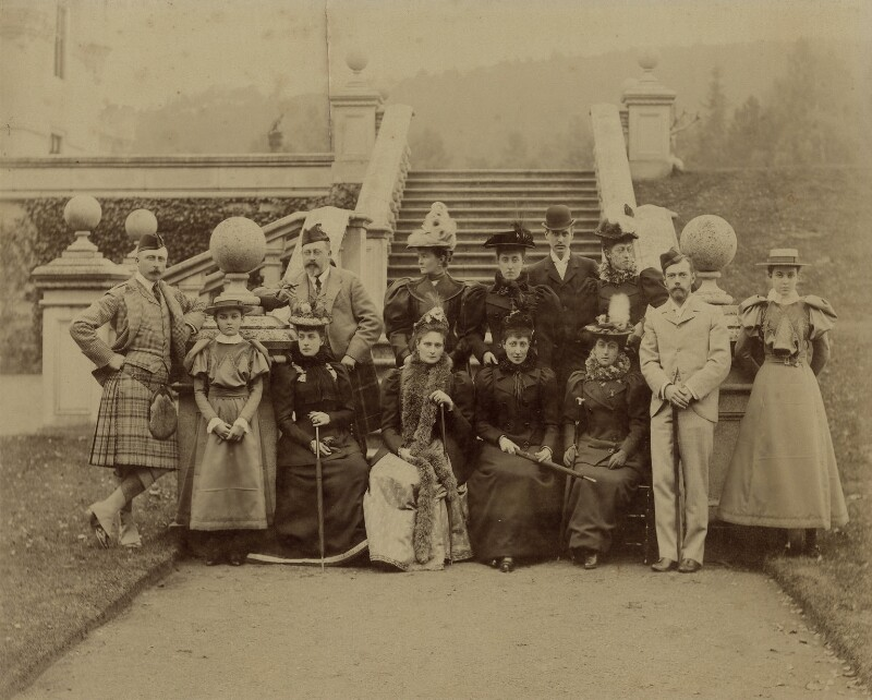 King Edward VII and large royal party, by Robert Milne, 1896 - NPG x8494 - © reserved; collection National Portrait Gallery, London