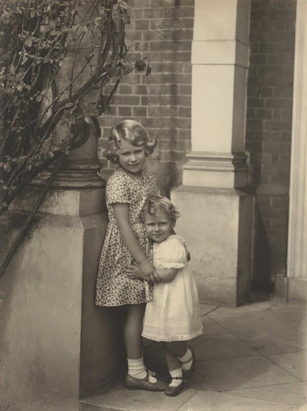 Queen Elizabeth II; Princess Margaret, by Frederick Thurston, August 1932 - NPG x87178 - © National Portrait Gallery, London