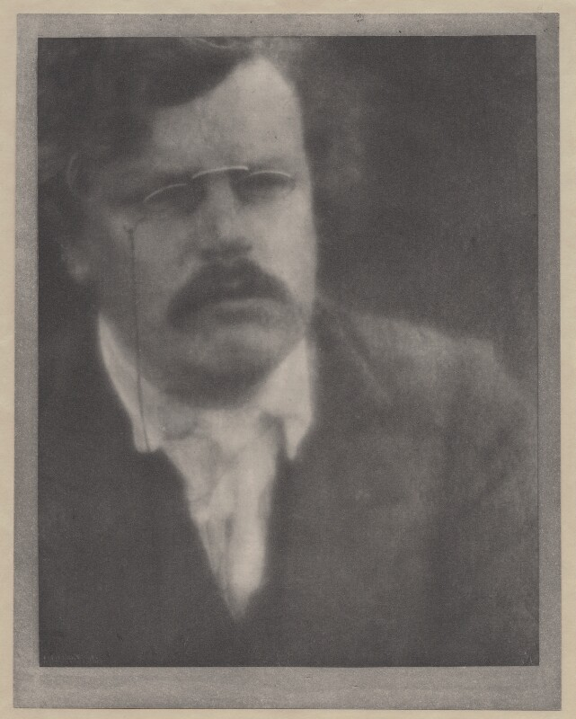 G.K. Chesterton, by Alvin Langdon Coburn, 12 August 1904 - NPG x87253 - © The Universal Order