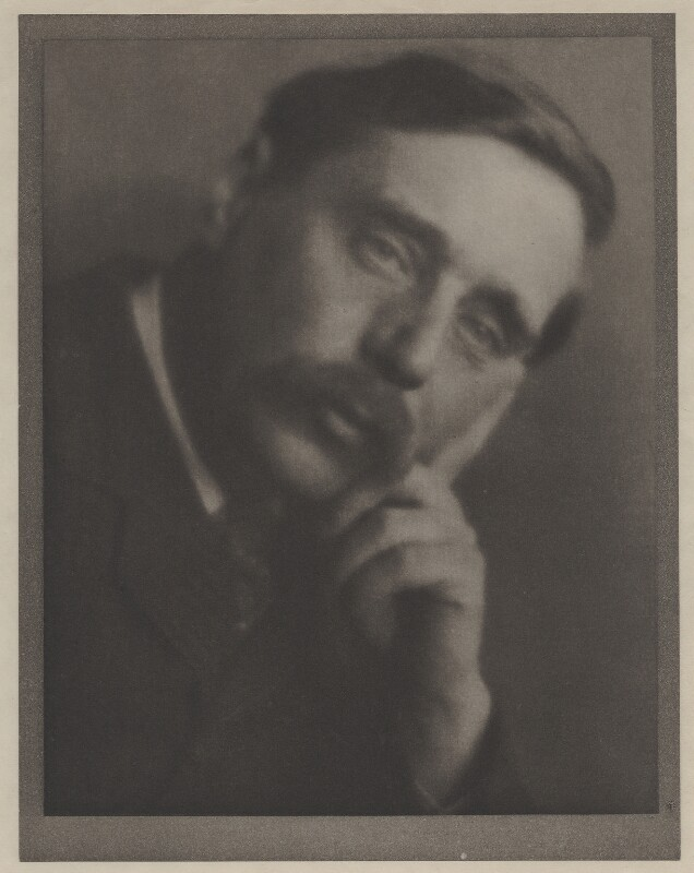 H.G. Wells, by Alvin Langdon Coburn, 2 November 1905 - NPG x87258 - © The Universal Order