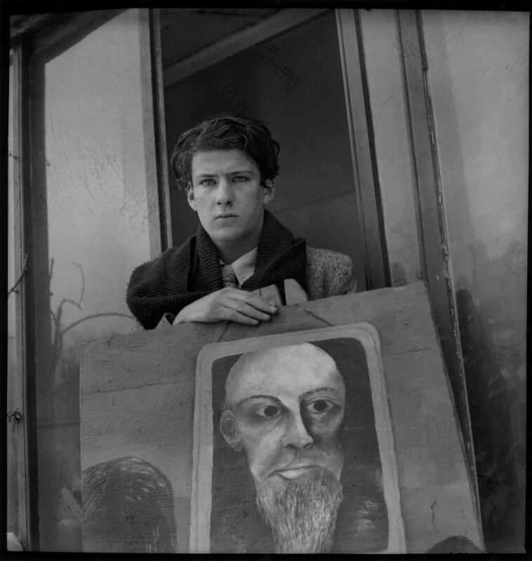 Lucian Freud, by Francis Goodman, circa 1945 - NPG x87288 - © National Portrait Gallery, London