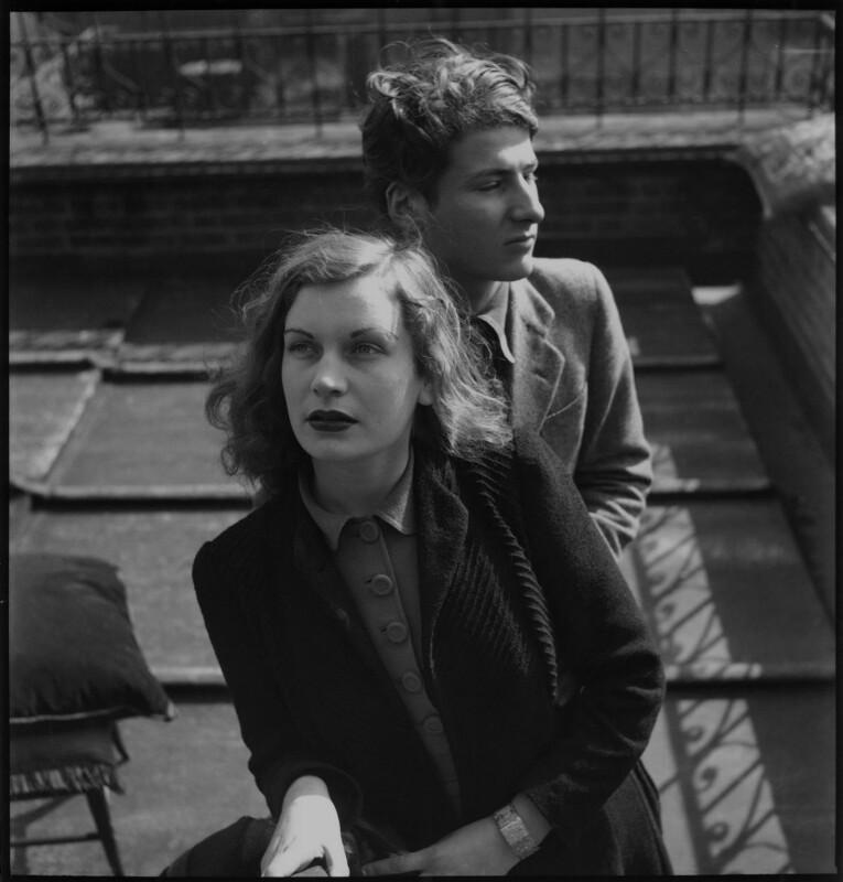 Lorna Cecilia Wishart (née Garman); Lucian Freud, by Francis Goodman, circa 1945 - NPG x87292 - © National Portrait Gallery, London