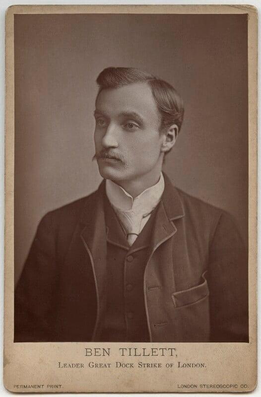 Ben Tillett, by London Stereoscopic & Photographic Company, 1889? - NPG x87297 - © National Portrait Gallery, London