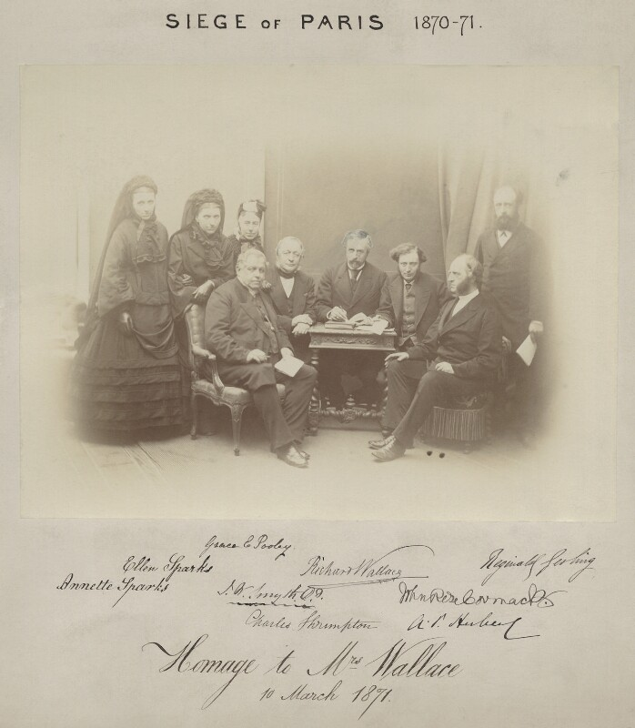 Sir Richard Wallace and other members of the British Charitable Fund after the Siege of Paris, by Adolphe, 10 March 1871 - NPG x8892 - © National Portrait Gallery, London