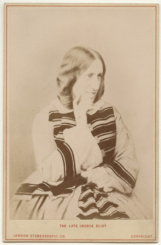 George Eliot (Mary Ann Cross (née Evans)), by London Stereoscopic & Photographic Company, 1870s-1900s - NPG x9050 - © National Portrait Gallery, London