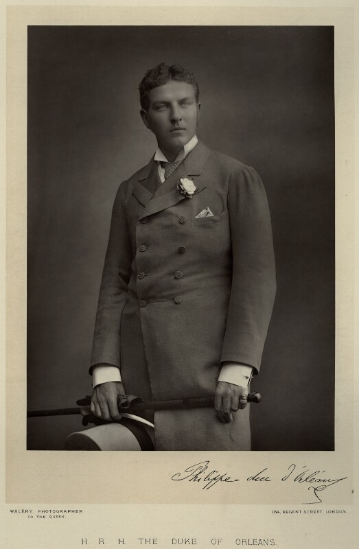 Philippe, 9th Duc d'Orleans, by Walery, published by  Sampson Low & Co, published March 1890 - NPG x9159 - © National Portrait Gallery, London