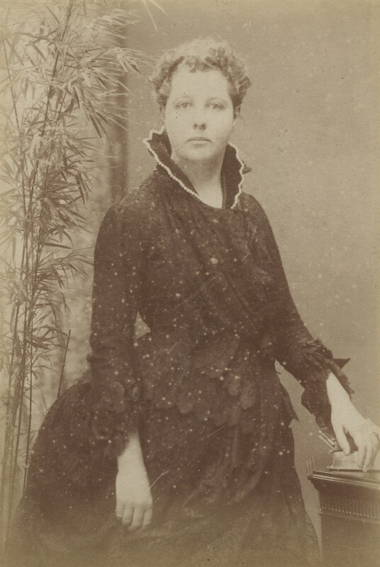 Annie Besant (née Wood), by Hayman Seleg Mendelssohn, mid 1880s - NPG x9201 - © National Portrait Gallery, London