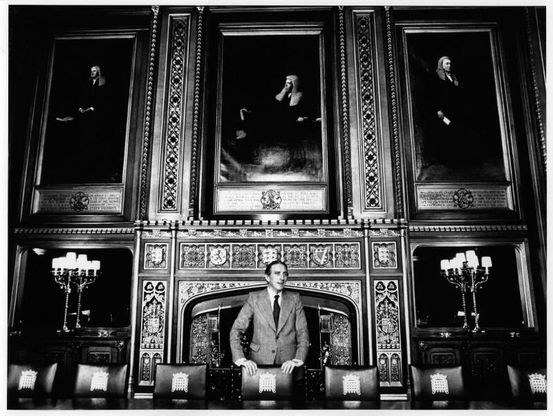 George Thomas, Viscount Tonypandy, by Bryan Wharton, 9 June 1976 - NPG x88636 - © Bryan Wharton