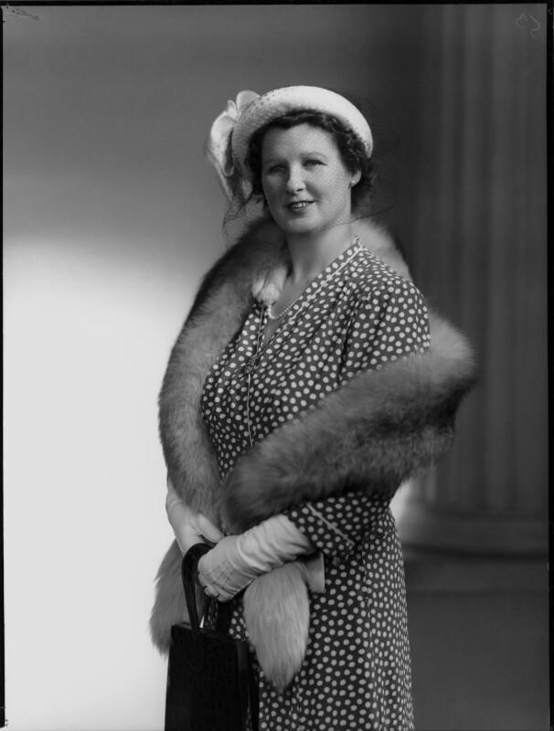 Hon. Mabel Nancy Mercer Ainscow (née Siddlely), by Navana Vandyk, 19 May 1949 - NPG x97269 - © National Portrait Gallery, London