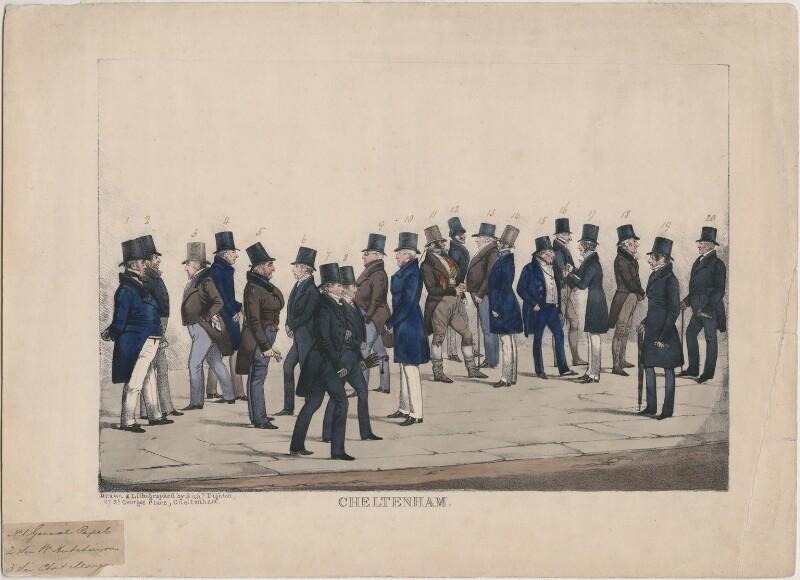 Cheltenham, by Richard Dighton, circa 1835-1838 - NPG D10945 - © National Portrait Gallery, London