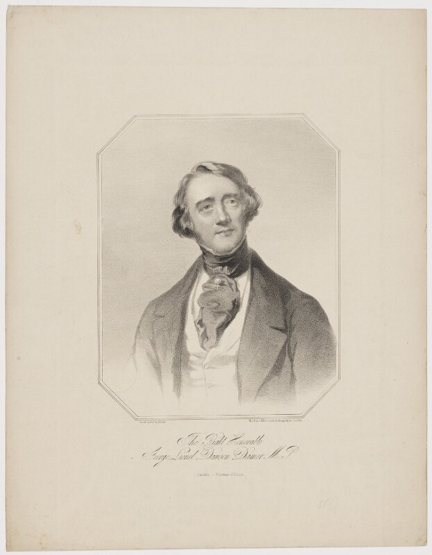 George Lionel Dawson Damer, by Maclure, Macdonald & Macgregor, after  Spiridione Gambardella, 1835 or after - NPG D34836 - © National Portrait Gallery, London