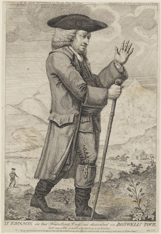 Dr Johnson in his Travelling Dress as described in Boswell's Tour (Samuel Johnson), by Thomas Trotter, published by  George Kearsley, published 18 January 1786 - NPG D34874 - © National Portrait Gallery, London