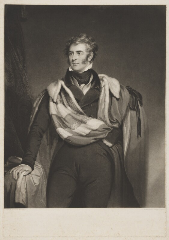 Thomas Philip de Grey, 2nd Earl de Grey, by William Brett, by  Samuel Cousins, after  William Robinson, (1827) - NPG D34849 - © National Portrait Gallery, London