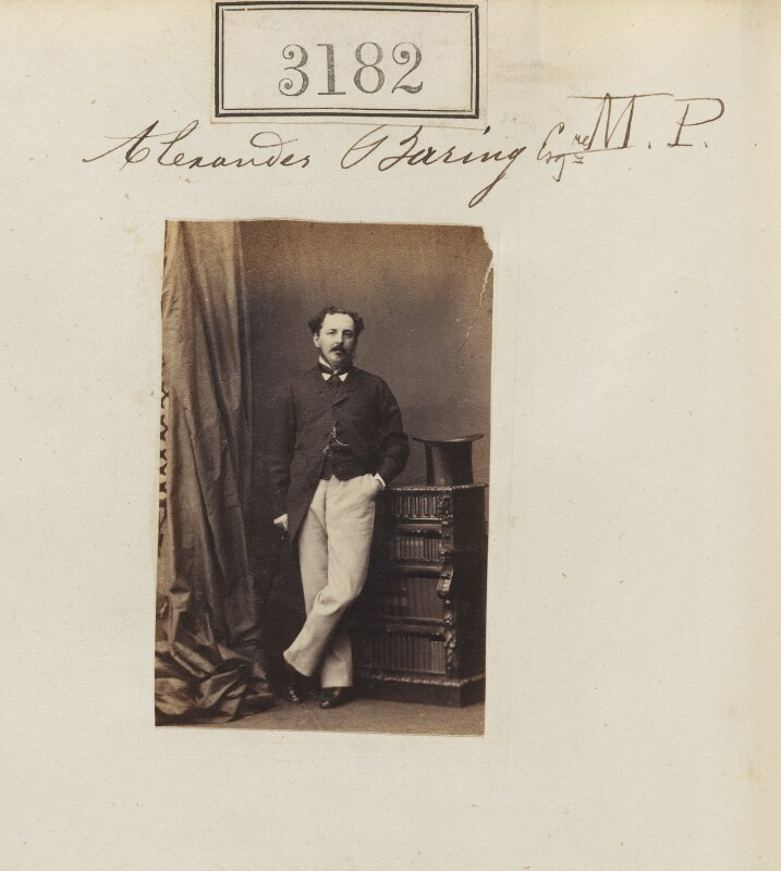 Alexander Hugh Baring, 4th Baron Ashburton, by Camille Silvy, 19 April 1861 - NPG Ax52582 - © National Portrait Gallery, London