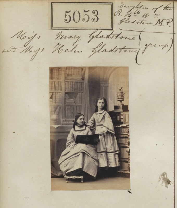 Mary Drew (née Gladstone); Helen Gladstone, by Camille Silvy, 19 July 1861 - NPG Ax55058 - © National Portrait Gallery, London