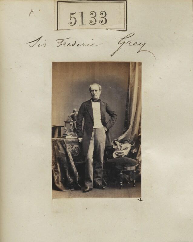Sir Frederick William Grey, by Camille Silvy, 23 July 1861 - NPG Ax55136 - © National Portrait Gallery, London
