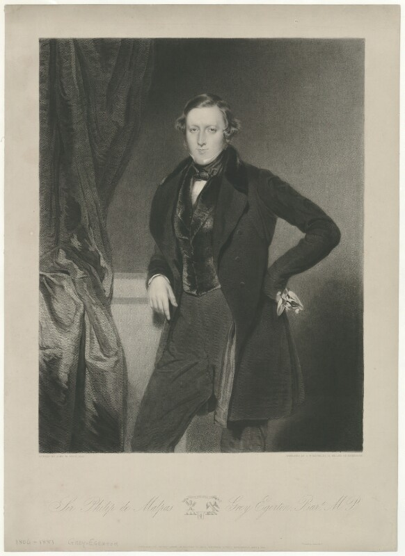 Sir Philip de Malpas Grey-Egerton, 10th Bt, by Samuel William Reynolds Jr, printed by  Lahee & Co, published by  Thomas Agnew, after  John Bostock, published 1 January 1840 - NPG D34963 - © National Portrait Gallery, London