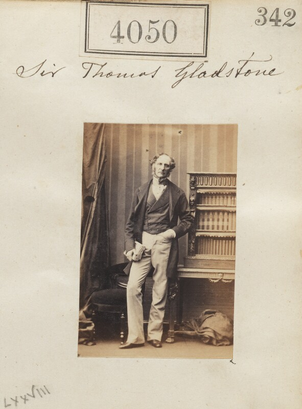 Sir Thomas Gladstone, 2nd Bt, by Camille Silvy, 31 May 1861 - NPG Ax54065 - © National Portrait Gallery, London