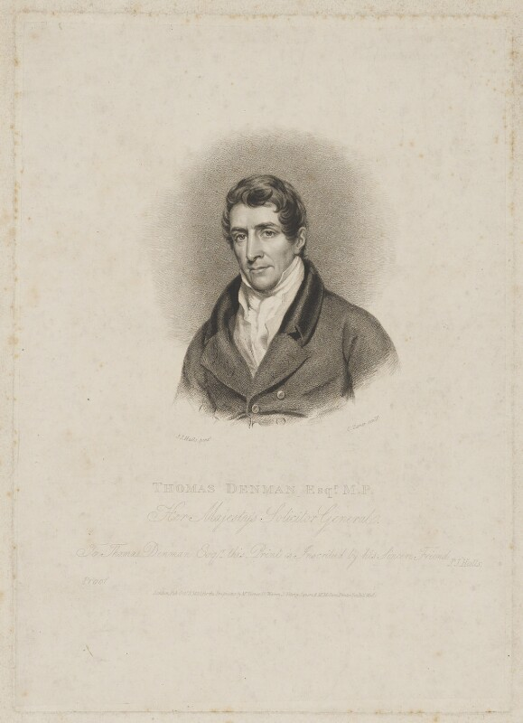 Thomas Denman, 1st Baron Denman, by and published by Charles Turner, and published by  Anthony Molteno, after  John James Halls, published 3 October 1820 - NPG D35021 - © National Portrait Gallery, London