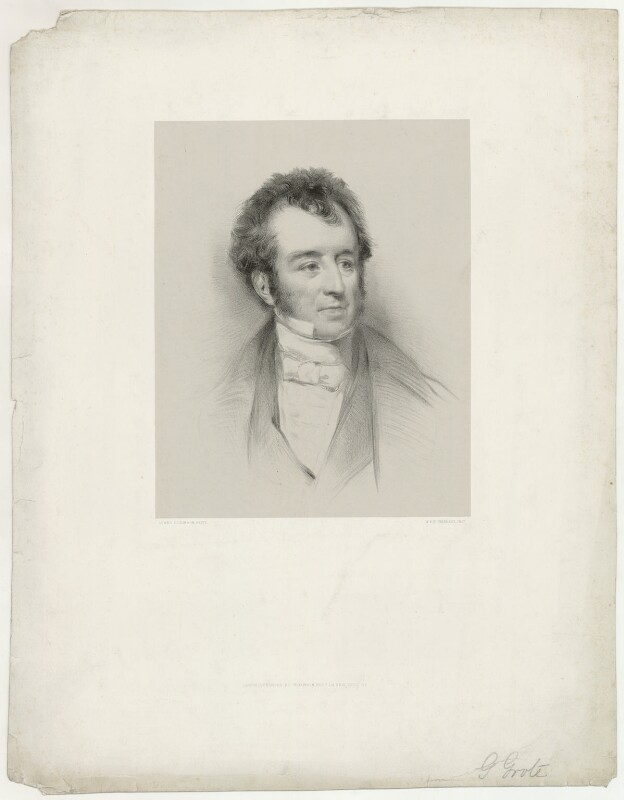 George Grote, by Lowes Cato Dickinson, printed by  M & N Hanhart, published by  Dickinson Brothers, 1840s - NPG D34996 - © National Portrait Gallery, London