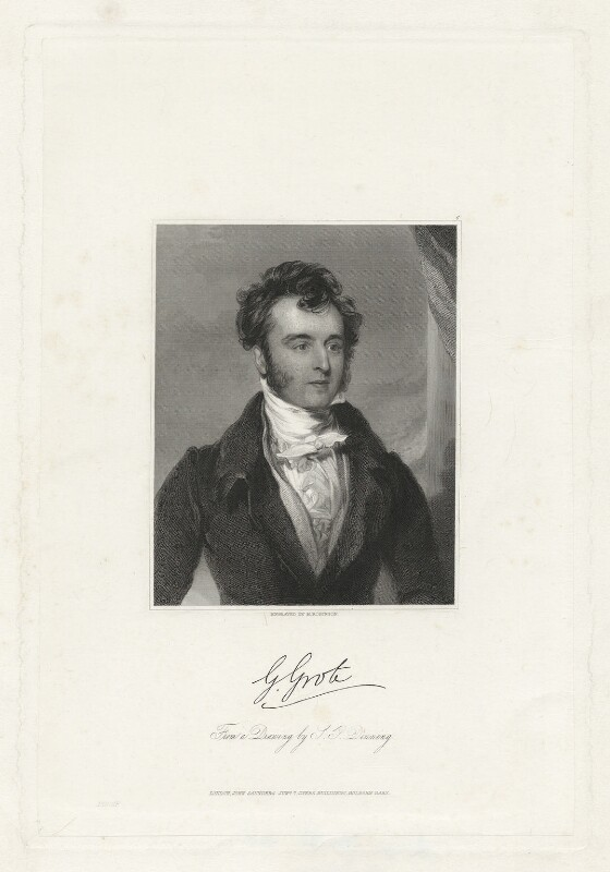 George Grote, by John Henry Robinson, published by  John Saunders, after  Stephen Poyntz Denning, 1840 (1834) - NPG D34998 - © National Portrait Gallery, London