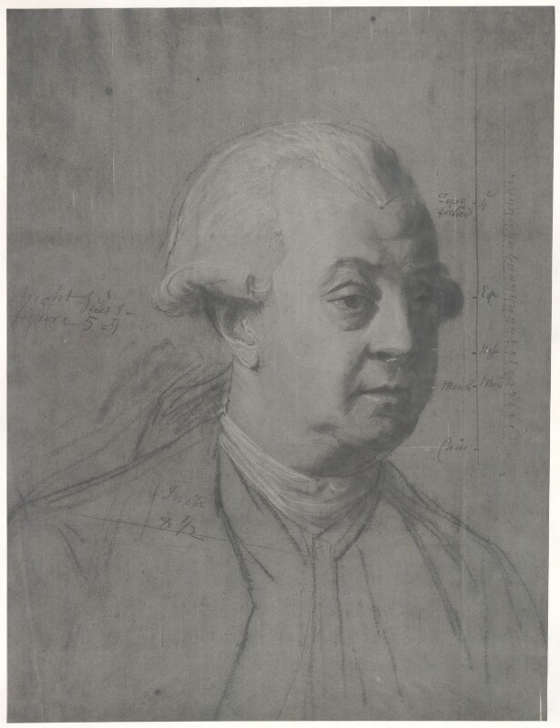 Unknown man, formerly known as Frederick North, 2nd Earl of Guilford, after John Singleton Copley, before 1935 - NPG D35007 - © National Portrait Gallery, London