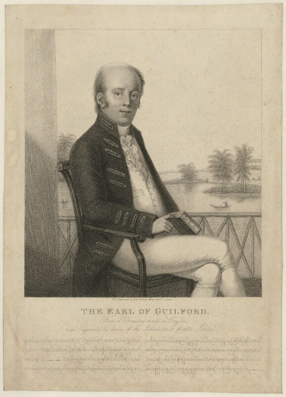 Frederick North, 5th Earl of Guilford, published by Edward Orme, published 1 May 1818 - NPG D35008 - © National Portrait Gallery, London